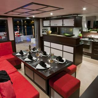 Salon und Küche