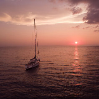 Pinker Sonnenuntergang